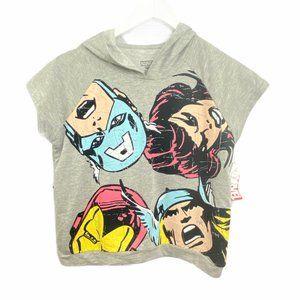 Marvel Comics Graphic Short Sleeve Hoodie Top